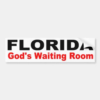 Autocollant De Voiture La FLORIDE, salle de l'attente de Dieu