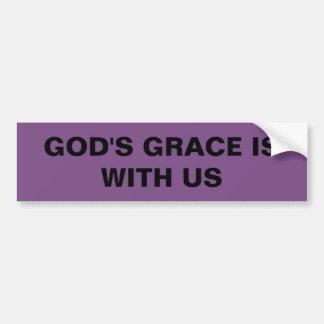 """Autocollant De Voiture La """"grâce de Dieu est avec nous"""" adhésif pour"""