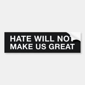 Autocollant De Voiture La haine ne rendra pas les USA grands