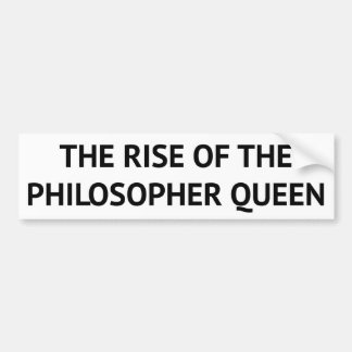 Autocollant De Voiture La hausse de la reine de philosophe