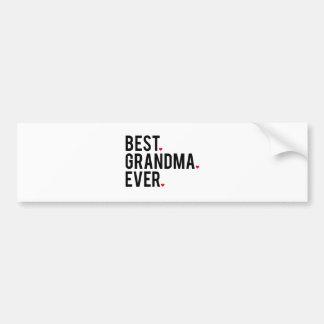 Autocollant De Voiture la meilleure grand-maman jamais, art de mot,