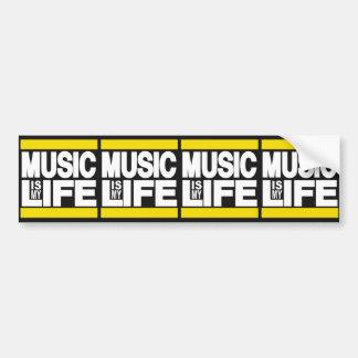 Autocollant De Voiture La musique est mon jaune de la vie