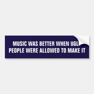 Autocollant De Voiture La musique était meilleure quand les personnes