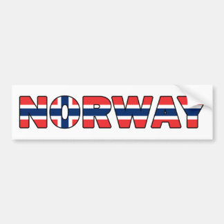 Autocollant De Voiture La Norvège