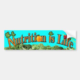 Autocollant De Voiture La nutrition est la vie