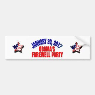 Autocollant De Voiture La partie d'adieu d'Obama