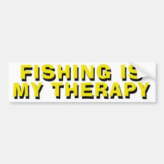 Autocollant De Voiture La pêche est ma thérapie