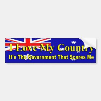 Autocollant De Voiture La politique australienne aime mon gouvernement de
