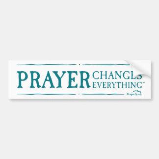 Autocollant De Voiture La prière change tout adhésif pour pare-chocs