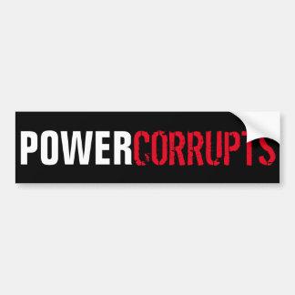 Autocollant De Voiture La puissance corrompt