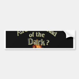 Autocollant De Voiture La question est sont vous effrayés de l'obscurité