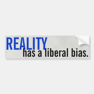 Autocollant De Voiture La réalité a une polarisation libérale