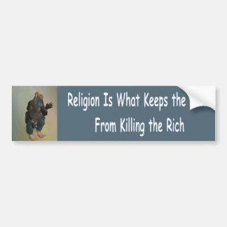 Autocollant De Voiture la religion est ce qui garde les pauvres