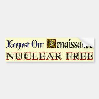 Autocollant De Voiture La Renaissance libre nucléaire indiquant l'adhésif
