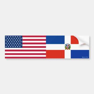 Autocollant De Voiture La République Dominicaine américaine et marque