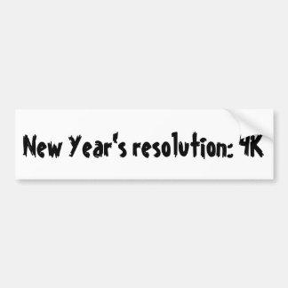 Autocollant De Voiture La résolution de nouvelle année : 4K