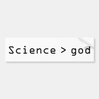 Autocollant De Voiture La Science > adhésif pour pare-chocs d'un dieu