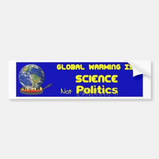Autocollant De Voiture La Science de réchauffement climatique