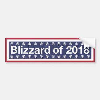 Autocollant De Voiture La tempête de neige de 2018