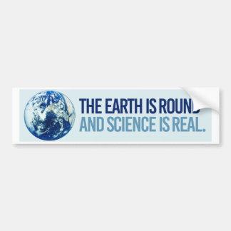 Autocollant De Voiture La terre est en rond et la Science est vraie -