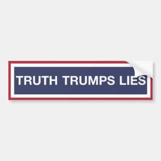 Autocollant De Voiture La vérité Trumps des mensonges