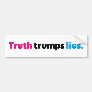 Autocollant De Voiture La vérité Trumps l'adhésif pour pare-chocs de