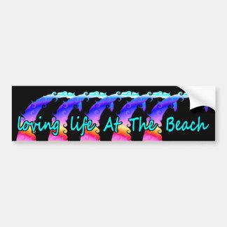 Autocollant De Voiture La vie affectueuse à la plage