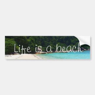 Autocollant De Voiture La vie est une plage