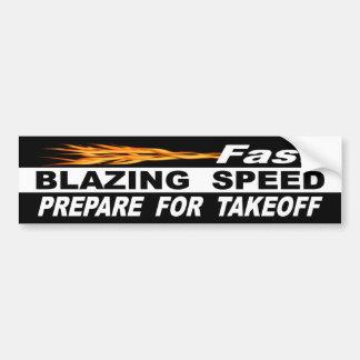 Autocollant De Voiture La vitesse de flambage rapide se préparent au