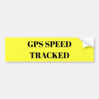 Autocollant De Voiture La vitesse de GPS a dépisté l'autocollant