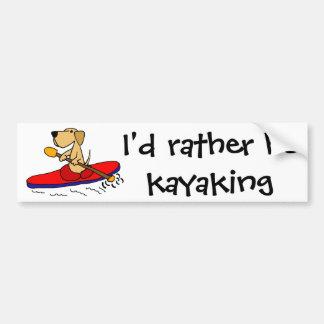 Autocollant De Voiture Labrador retriever jaune drôle Kayaking