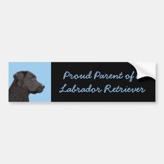 Autocollant De Voiture Labrador retriever (noir)