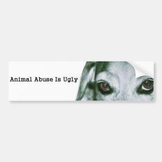 Autocollant De Voiture L'abus animal est laid