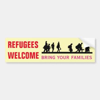 Autocollant De Voiture L'accueil de réfugiés amènent vos familles