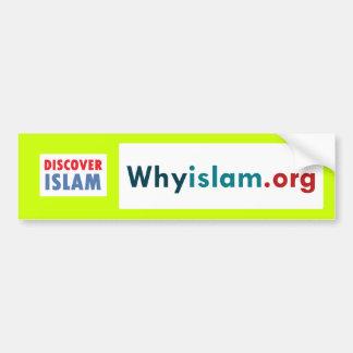 Autocollant De Voiture L'adhésif pour pare-chocs découvrent l'Islam (2)