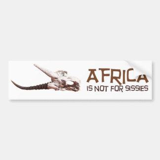 Autocollant De Voiture L'Afrique n'est pas pour des poules mouillées :