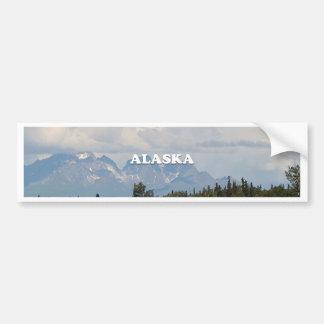 Autocollant De Voiture L'Alaska : Denali, forêt, rivière, montagnes,