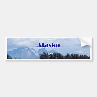 Autocollant De Voiture L'Alaska : Denali, forêt, rivière, montagnes 1