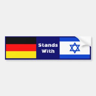 Autocollant De Voiture L'Allemagne se tient avec l'Israël