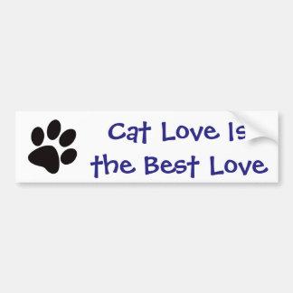 Autocollant De Voiture L'amour de chat est le meilleur amour