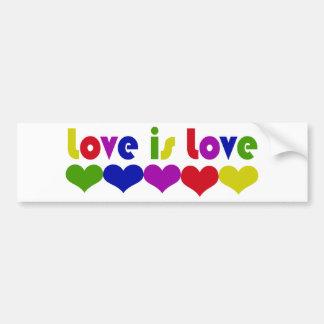 Autocollant De Voiture L'amour est des droits des homosexuels d'amour