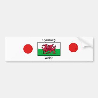 Autocollant De Voiture Langue de Gallois et conception de drapeau du Pays