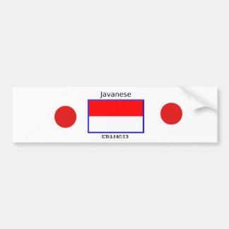 Autocollant De Voiture Langue de Javanese et conception indonésienne de