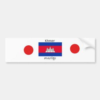 Autocollant De Voiture Langue de Khmer et conception de drapeau de