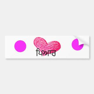 Autocollant De Voiture Langue de Punjabi de conception d'amour