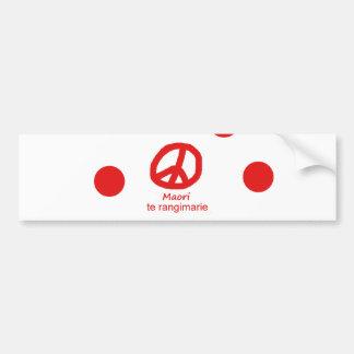 Autocollant De Voiture Langue et conception maories de symbole de paix