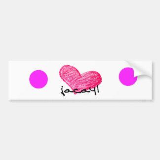 Autocollant De Voiture Langue somalienne de conception d'amour