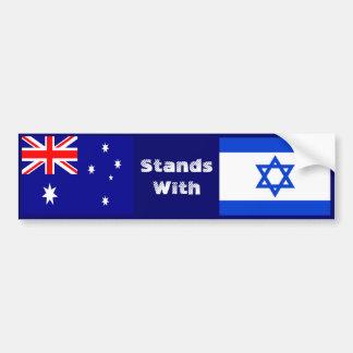 Autocollant De Voiture L'Australie se tient avec l'Israël