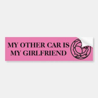 Autocollant De Voiture l'autre voiture est mon amie
