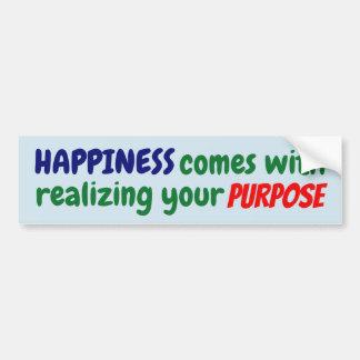 Autocollant De Voiture Le bonheur vient avec réaliser votre but !